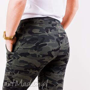 dresowe modne fajne spodnie militarne sreet style, styl, moro