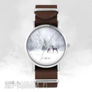 hand-made zegarki zegarek - sarenki brązowy, nato
