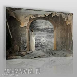 obrazy obraz na płótnie - kobieta morze 120x80 cm 19701, kobieta