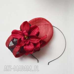 handmade ozdoby do włosów firgijka malinowa