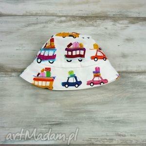kapelusz dla dziecka samochody - chłopca, bawełna, piłka