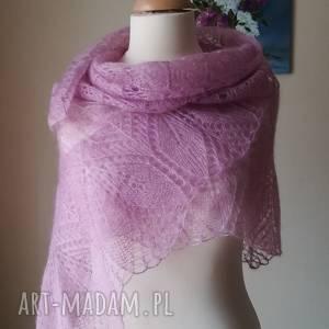 Prezent Różane otulenie olbrzymia chusta, rękodzieło, ażur, ażurowa, styl,