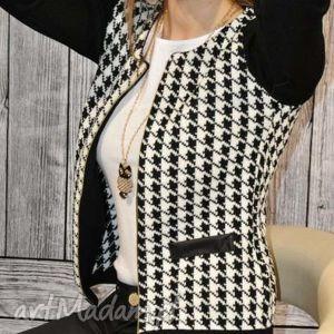 knitcat chanelka w pepitkę, chanelka, pepita, blezer, elegancki, stylowy ubrania
