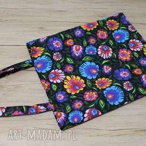 torba bawełniana - folk, łowicz, pakowna, bawełniana, ekologiczna, zakupy