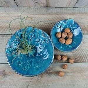 dom konie zestaw misek komplet ceramiczny turkusowy, ceramika, koń