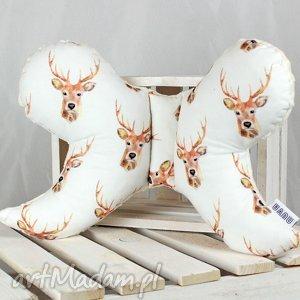 motylek- poduszka antywstrząsowa jelenie, motylek, poduszka