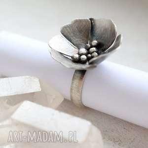 Prezent Pierścień Kwiat, pierścień, srebro, kwiatek, prezent, kwiat, unikatowy