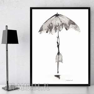 nowoczesna grafika czarno-biała minimalizm, obraz abstrakcyjny 21x30 a4 rysunek tuszem