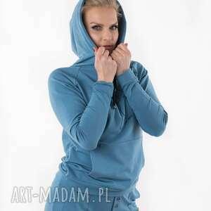 bluza blue z nadrukiem 3for, bluza, kombinezon, sukienka, spodnie, płaszcz
