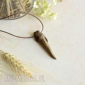 wisiorki wisiorek smoczy kieł z runą wunjo, wisior runiczny