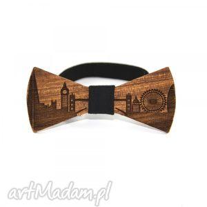 muszka drewniana - mucha, muszka, drewno, londyn, prezent, on