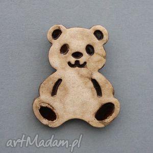pandka-broszka ceramiczna - minimalizm, prezent, upominek, święta, nietypowa