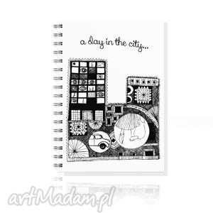 handmade notesy notes a5... miasto