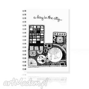 handmade notesy notes a5... miasto