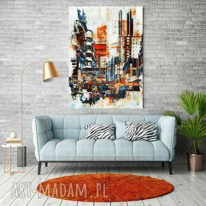 canvas obraz płótno town 50x70 cm, obraz, dekoracje, dodatki