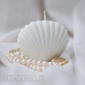 świeca sojowa muszelka 6 cm, świeczka muszelka, świeca, naturalna