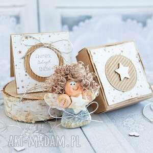 mrufru aniołek dobrych snów personalizowana kartka pudełeczko, dla dziecka