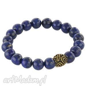 lapis lazuli stone with bead - koralik