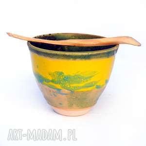 Ceramiczna czarka- JT nr22 , czarka, naczynie, ceramika, uzytkowe, unikatowe