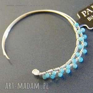SREBRO, kolczyki błękitne opale, koła, srebro