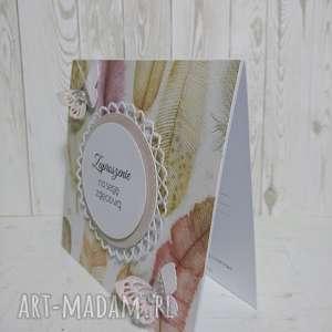 handmade scrapbooking kartki zaproszenie/ kartka pióra z motylami