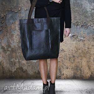 2f0ae0d6fd75a niebanalne na ramię torba mr m vintage czarna skóra