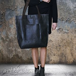 Torba Mr M Vintage czarna skóra naturalna, torba, vintage, miejska, skóra, naturalna
