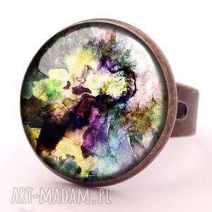 autorskie pierścionki kolorowa fantazja - pierścionek regulowany