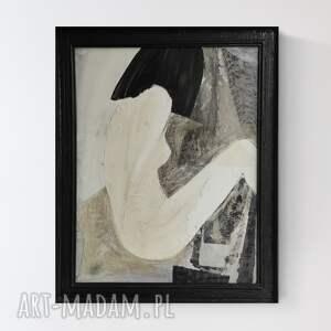 obraz na płótnie abstrakcja kobieta z tatuażem, 50 x 63 cm, ręcznie