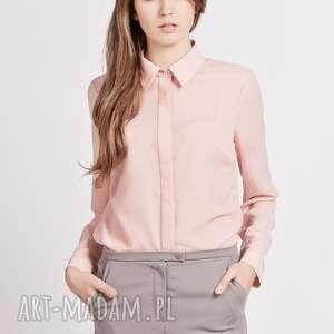 Koszula, K101 róż, koszula, bluzka, krepa, mgiełka, matura, kobieca