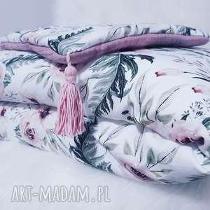 pościel do łóżeczka bawełna z pięknym wzorem i muślinem