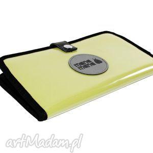 portfele portfel mana 2, żółty, folia, portfel, handmade, święta prezenty