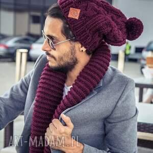 business instinct upojne bordo - jesień, zima, czapka, męska