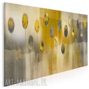 obraz na płótnie - abstrakcja żółty szary beżowy 120x80