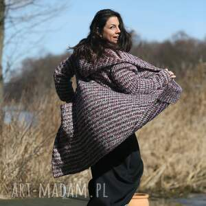płaszcz melanżowy wiosenny, etno płaszcz, wisoenny sweter, narzutka, boho
