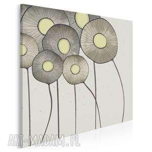 obraz na płótnie - kwiaty bukiet w kwadracie 80x80 cm 69402, kwiay