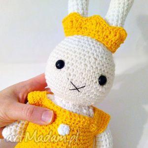 Króliczek a la Miffy - królewna - ,króliczek,miffy,króliczki,maskotki,