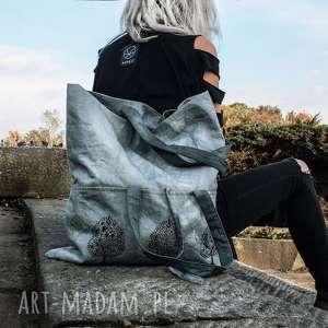 na ramię torba metamorfoza s/xl, bawełniana, indyjski wzór, styl orientaly