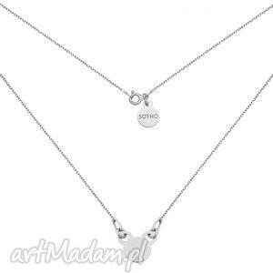 krótki srebrny naszyjnik z myszką, srebrna, srebro, dziecięcy, dziewczęcy, mysz