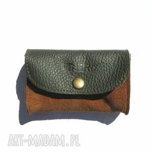 portfele skórzana portmonetka mini, skórzana, mini