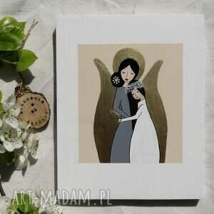 anioł stróż dla dziewczynki pamiątka komunijna - brunetka no 3