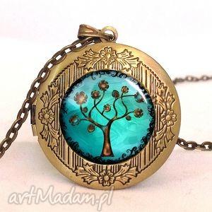 drzewo nadziei - sekretnik z łańcuszkiem - romantyczny, medalion
