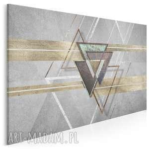obraz na płótnie - loftowy kształty trójkąty 120x80 cm 95201, loft