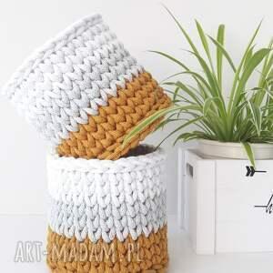 koszyki osłonki 20x20, osłonka, na doniczkę, kwiatek, w paski, jednolite