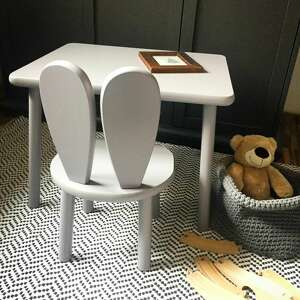 handmade pokoik dziecka meble dziecięce stolik i krzesełko królik