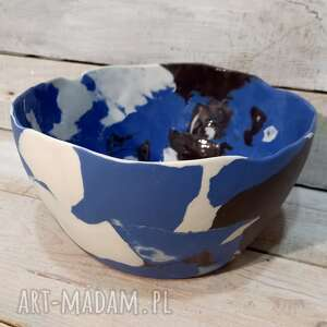 ręcznie zrobione ceramika duża misa porcelanowa wyjątkowa