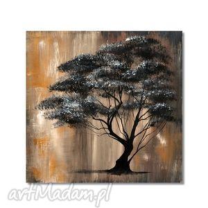 obrazy drzewo vintage, obraz ręcznie malowany, drzewo, obraz,