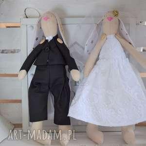 Para króliczki tilda pamiątka ślubu ślub fabryqaprzytulanek