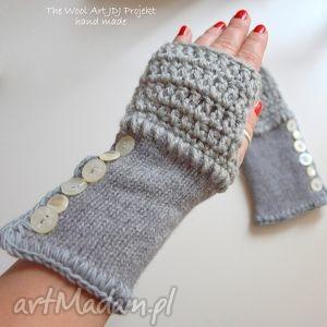 rękawiczki mitenki - rękawiczki, mitenki, dłonie, wełna