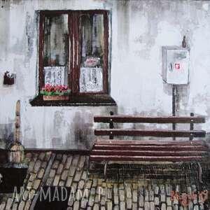 obraz akrylowy podwórze